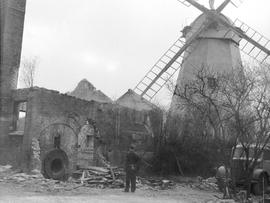 The derelict Steam Mill at Upminster during demolition