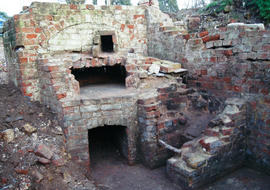 Remains of the bread oven at the Mill House