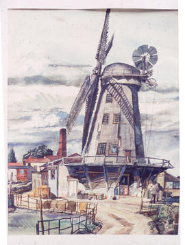Painting of Upminster windmill