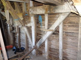 Spout floor left side framing, New Mill, Cross in Hand