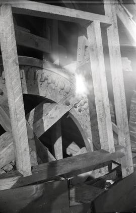 """Windmill at Pitstone, Bucks - frame for door above neck bearing (made by J Bierton)"""