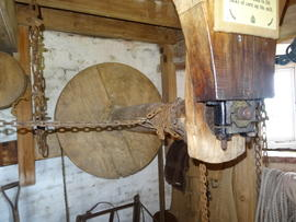 Sack hoist, tower mill, Great Bircham