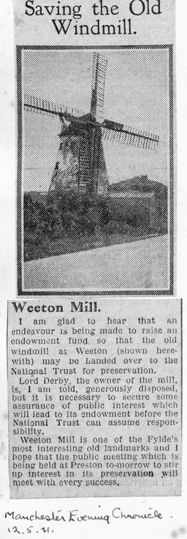 """Saving the Old Windmill - Weeton Mill"""