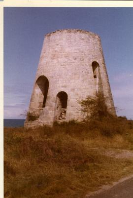 Tower mill shell, location unknown, possibly Channel Islands