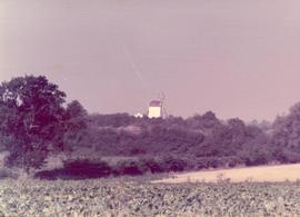 Distant exterior view, post mill, Drinkstone, Suffolk