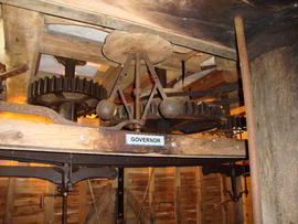 Great spur wheel, stone nuts, governor and tentering gear, Cromer Mill, Cromer
