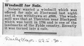 """Windmill for Sale"""