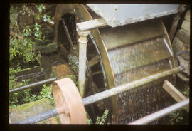 Top Forge, Wortley, Sheffield, waterwheel in forge