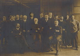 Photo of George Wailes and employees