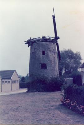 Exterior view, derelict tower mill, North Leigh, Oxfordshire