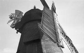 """View of cap and sails, Windmill at Earnley, Sussex"""