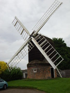 External view, post mill, Kibworth Harcourt