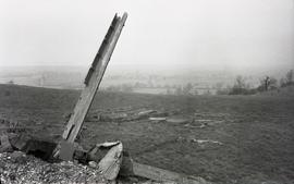 """Remains of the Windmill at Burton Dassett, Warwicks"""