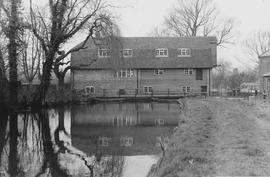 Town Mill, Whitchurch, restored, upstream side