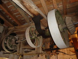 Auxiliary drive layshaft and pulleys, Ovenden's Windmill, Polegate