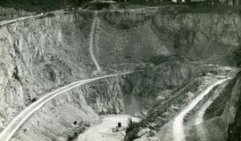 """General view to road around face"", Humberfield Quarry, Hessle"