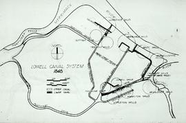 """Lowell, USA, Canal System - Hunter 1848"""
