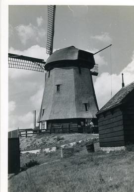 Preserved drainage mill, North Holland, summer 1971