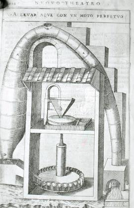 """Zonca 1607, syphon and horizontal waterwheel"""