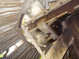 "Collar, sheers and ""ring"" of roundhouse roof, New Mill, Cross in Hand"