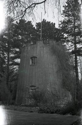 """Windmill at Wexham near Slough, Bucks - base of tower mill"""