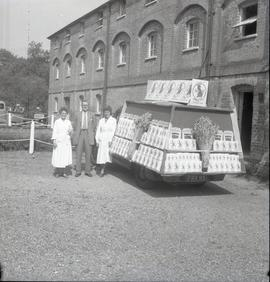 Display float at Sindlesham Mill with mill staff