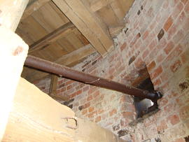 Engine drive layshaft, tower mill, Norton Lindsey