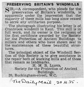 """Preserving Britain's Windmills"""