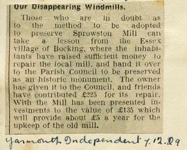 """Our disappearing windmills"""