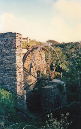 Trebarwith Farm waterwheel, Tintagel
