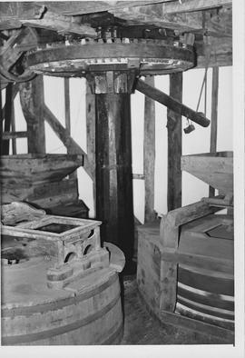 Haxted Mill, Haxted, internal, crown wheel and stones floor