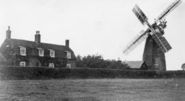 Laratt's Mill, Chatteris with cottages