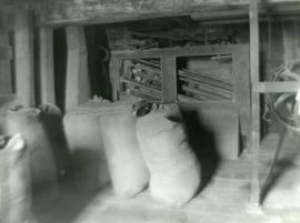 Unidentified watermill - interior with filled sacks