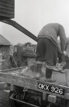 Concrete mixing, Pitstone Windmill