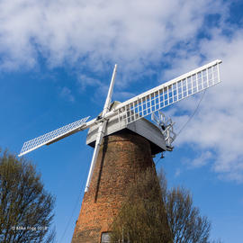 Rayleigh Windmill with two new sails attached