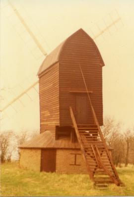 Exterior view, post mill, Ashdon, Essex