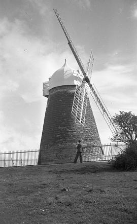 """As restored in 1935, Windmill at Halnaker, Sussex"""