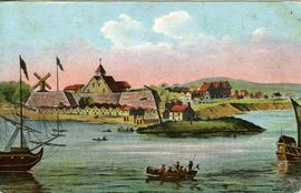 """Fort Amsterdam 'now the Battery' in Kieft's days"""