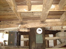 Spout floor ceiling, post mill, Madingley