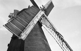 """Showing spring sail, Windmill at Earnley, Sussex"""