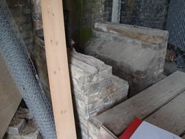 Ground floor: channel for pump drive shaft, Cadge's Mill, Reedham