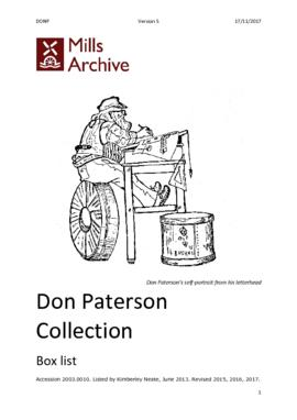 Don Paterson Collection