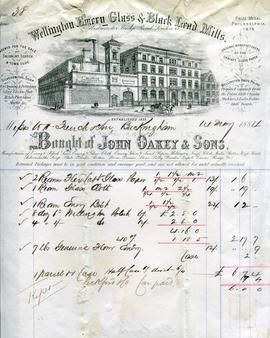 Billhead receipt of John Oakey and Sons, Wellington Mills, London