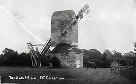 """Windmill at Great Clacton, Essex - copy negative"""