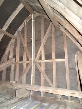 Rear cap roof gable, New Mill, Rottingdean