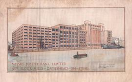 """New flour mills - Gateshead-on-Tyne"""