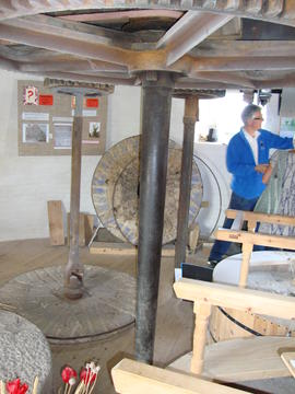 Great spur wheel, stone nuts, upright shaft and quants, Holgate Mill, Holgate, York