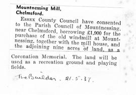 """Mountnessing Mill, Chelmsford"""