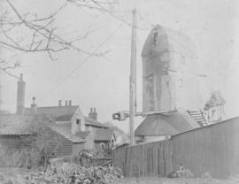 """Mersea Island Mill being dismantled"""