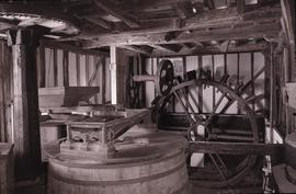 """Haxted Mill Sussex 1866 stone floor and wood w.wheel"""